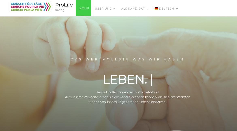 ProLifeRating: Für den Schutz des Lebens zur Wahl gehen